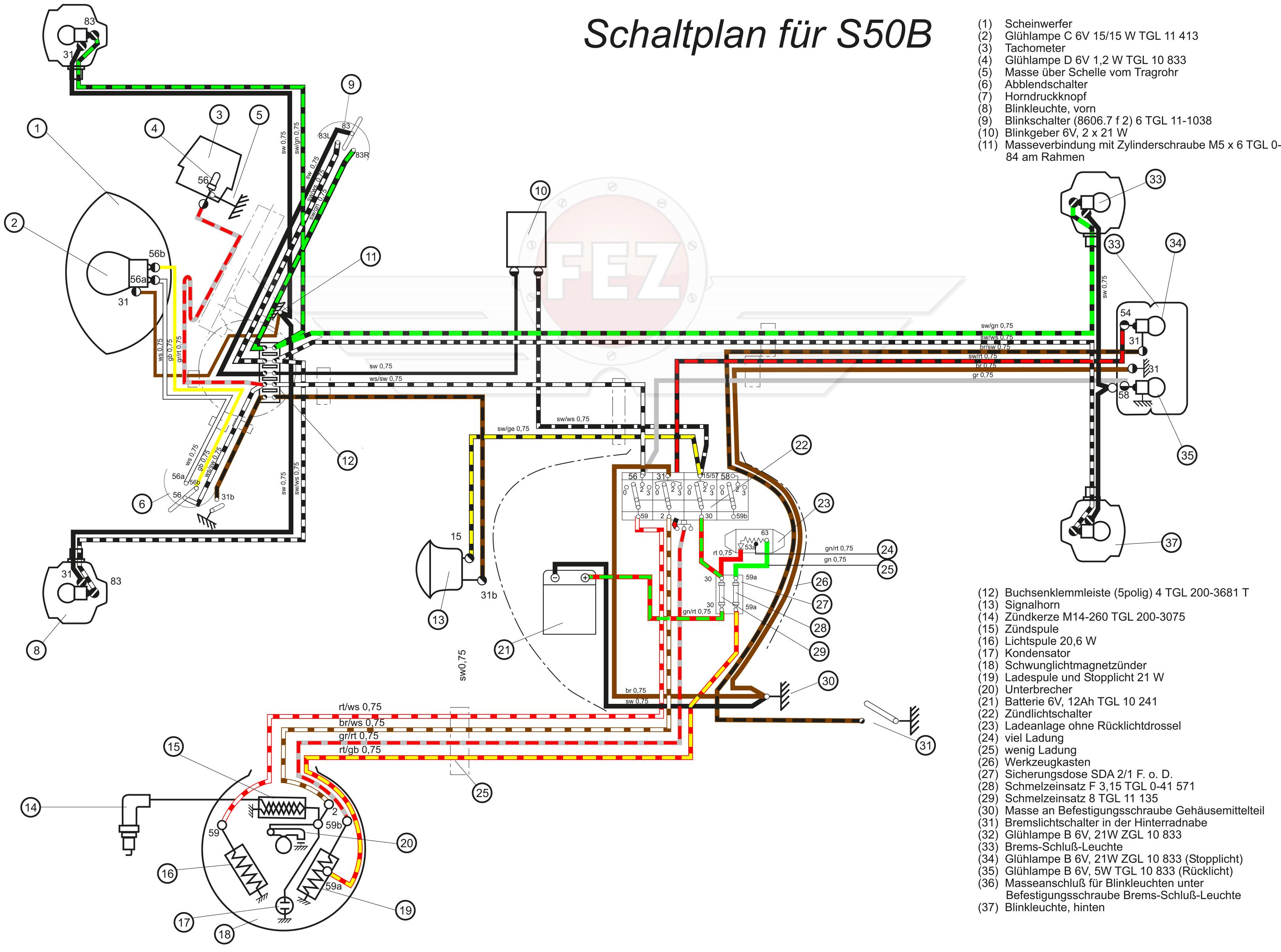 Charmant Einfache Scheinwerfer Schaltpläne Bilder - Schaltplan Serie ...