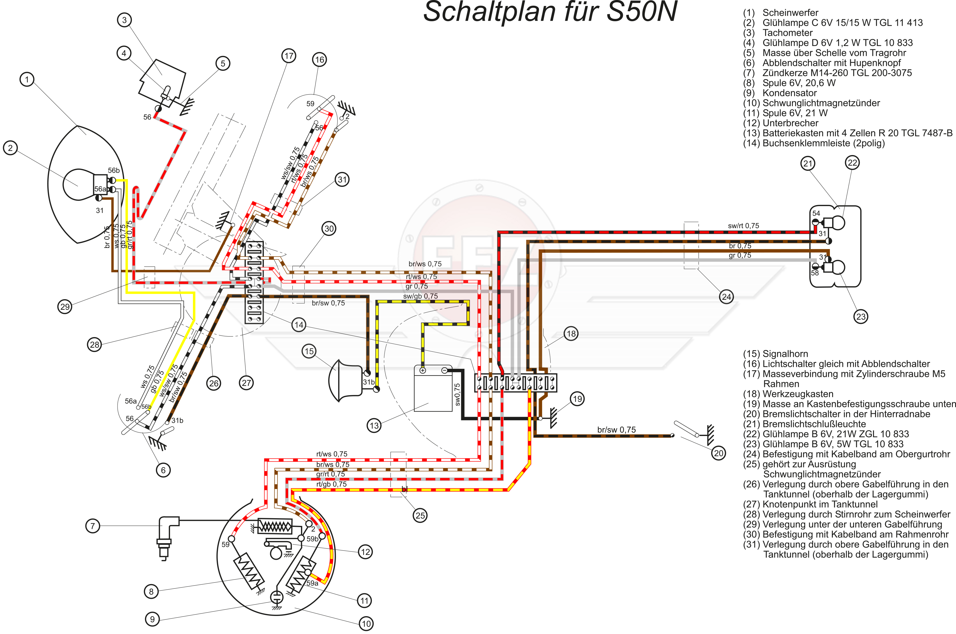 Simson S51 B2 4 Schaltplan