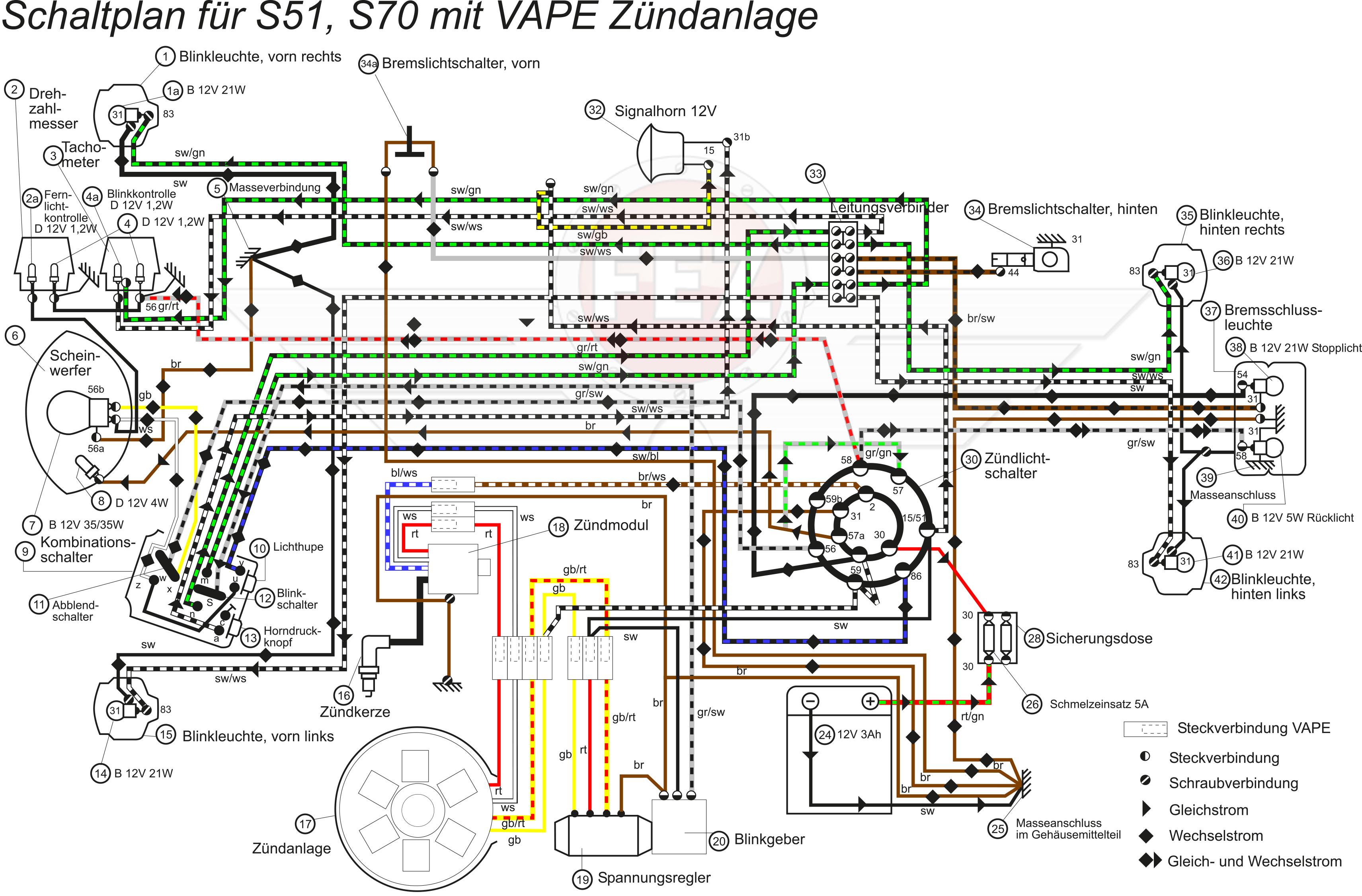 Ungewöhnlich Moped Zündung Schaltplan Zeitgenössisch - Elektrische ...