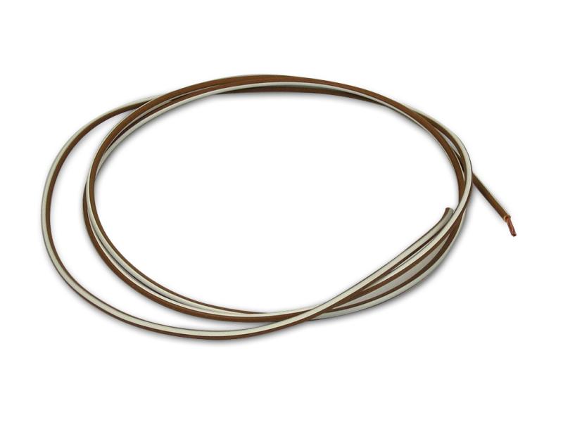 kabel braun wei 1 5 mm je meter verkauf als 5 meter. Black Bedroom Furniture Sets. Home Design Ideas
