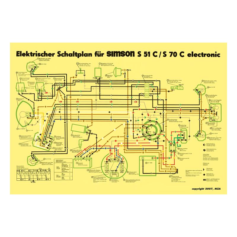 schaltplan farbposter f r s51c s70c 6v elektronic. Black Bedroom Furniture Sets. Home Design Ideas