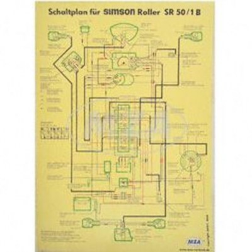 schaltplan farbposter f r sr50 1 b. Black Bedroom Furniture Sets. Home Design Ideas